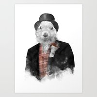 phil jones Art Prints featuring Mr. Phil by Robert Farkas