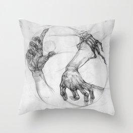 hand of life Throw Pillow