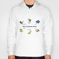 new zealand Hoodies featuring New Zealand Birds by mailboxdisco