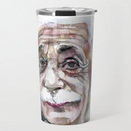 ALBERT EINSTEIN - watercolor portrait.7 Travel Mug