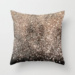 Sparkling GOLD BLACK Lady Glitter #1 #decor #art #society6 Throw Pillow