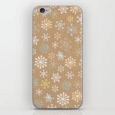 snow flakes pattern iPhone & iPod Skin