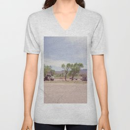 Truck and Helicopters Unisex V-Neck