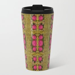 Bloom in gold shine and you shall be strong Travel Mug