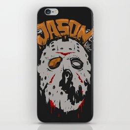 Jason killer face iPhone Skin