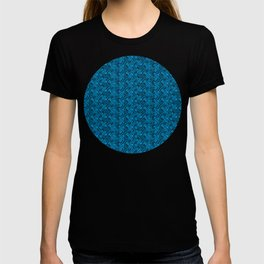 Geometric Optical Illusion Pattern VI - Cyan T-shirt
