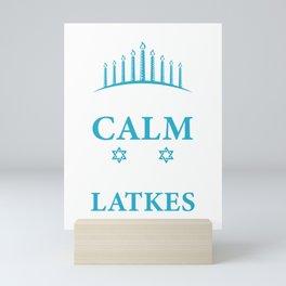 Keep Calm And Eat Latkes Pancake Lover And Jew Gift Mini Art Print