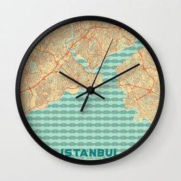 Istanbul Map Retro Wall Clock