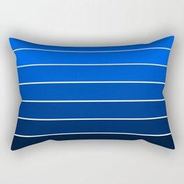 Deep Sea Blue Ombre Rectangular Pillow