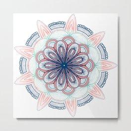 Asterales Mandala Metal Print