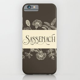 Sassenach in Sepia iPhone Case