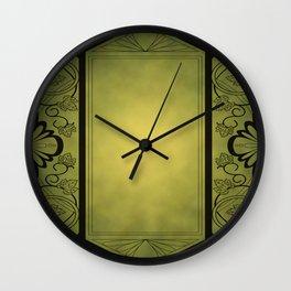 Grape Border with Patina Wall Clock