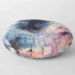 Rage - Alcohol Ink Painting Floor Pillow