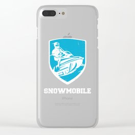 Snowmobile Winter Sports Snowmobiling Gift Idea Clear iPhone Case
