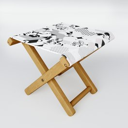 In between the lines and dots Folding Stool