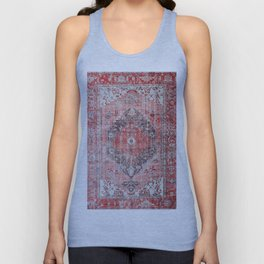 Vintage Anthropologie Farmhouse Traditional Boho Moroccan Style Texture Unisex Tank Top