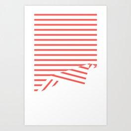 Line Fold Art Print