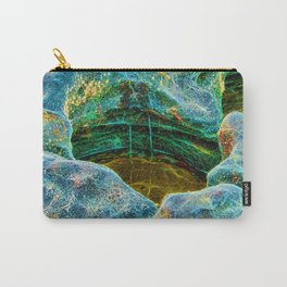 Abstract rocks with barnacles and rock pool Carry-All Pouch