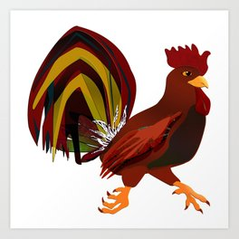 Feathery Noisemaker Art Print