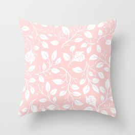 Floral on pink Throw Pillow