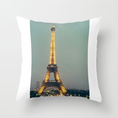 The 90s in Paris Throw Pillow