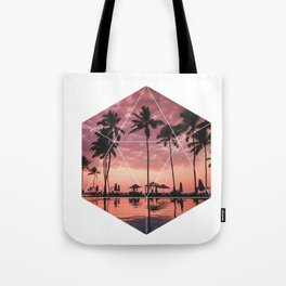 SUNSET PALMS- Geometric Photography Tote Bag