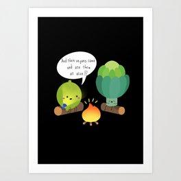 vegans Art Print