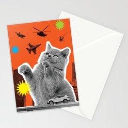 KATZILLAZ_02 - AIR BATTLE - CAT KAIJU !!! Stationery Cards