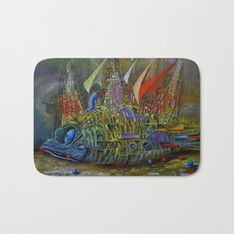 Fish-ship Bath Mat