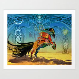 The Wind of Time (Red Horse) Art Print