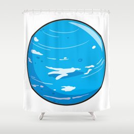Neptune Icon Shower Curtain