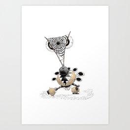 Dancing shaman Art Print