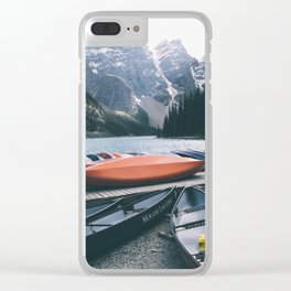 Moraine Lake Canoes Clear iPhone Case