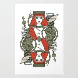 SINS Mentis - Lust Queen of Hearts Art Print
