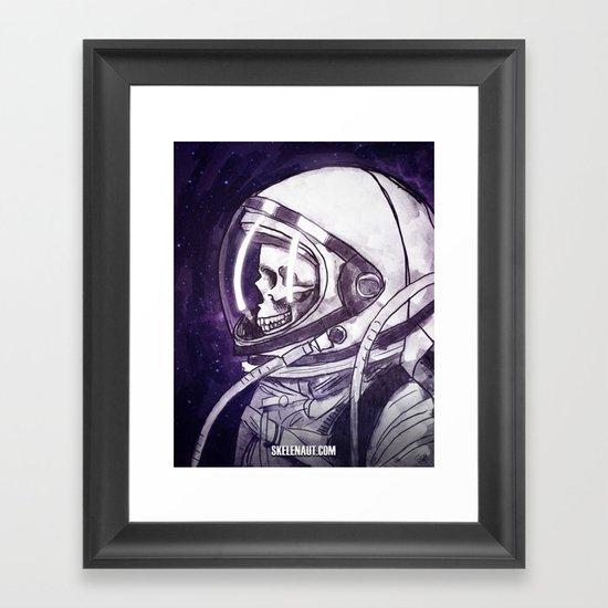 Skelenaut II Framed Art Print