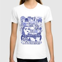 manchester T-shirts featuring Manchester by leeann walker illustration