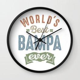 World's Best Bampa Wall Clock