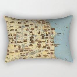 Map of Chicago 1940 Rectangular Pillow