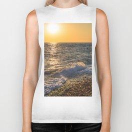 Sea sunset Biker Tank