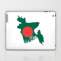 Bangladesh flag map Laptop & iPad Skin