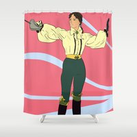 pirate Shower Curtains featuring Pirate by KempoB