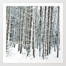 snowy day  Art Print