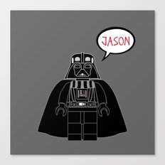 Personalized Darth Vader Canvas Print