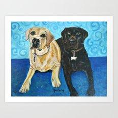 Daisy & Cocoa Art Print