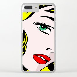 Green-Eyed Blonde Clear iPhone Case
