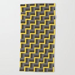Plus Five Volts - Geometric Repeat Pattern Beach Towel