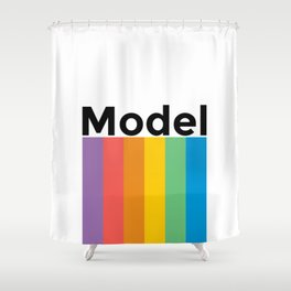 Vintage Retro Classic Model Shower Curtain