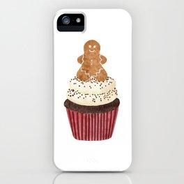 Gingerbread man Cupcake iPhone Case