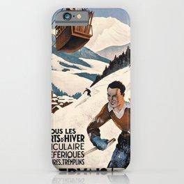 vintage poster St Gervais Les Bains iPhone Case