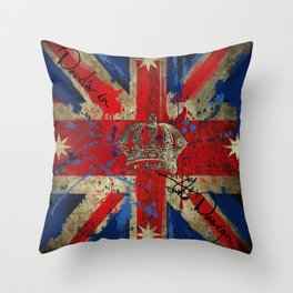 Union Jack & Eureka Flag Throw Pillow